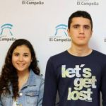 Lorena Mendoza, del IES Enric Valor, y José Antonio Navarro, del IES Clot de L'Illot