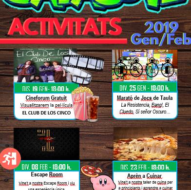 Actividades Sala Jove enero y febrero