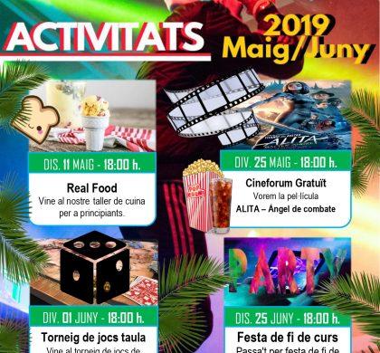 Activitats Sala Jove: maig i juny