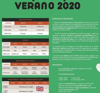 PROGRAMA MUNICIPAL DEPORTIVO Verano 2020