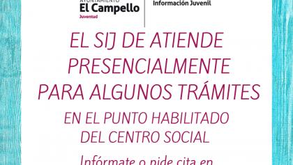 EL SERVICIO DE INFORMACIÓN JUVENIL TE ATIENDE CON CITA PREVIA