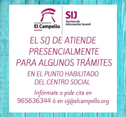 EL SERVICIO DE INFORMACIÓN JUVENIL TE ATIENDE CON CITA PREVIA PARA ALGUNOS TRÁMITES