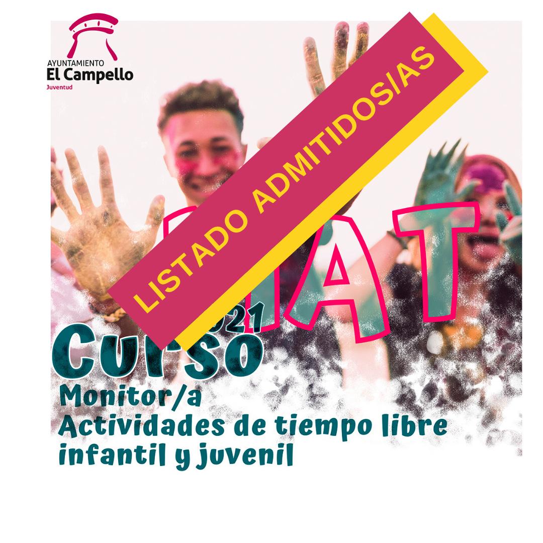 Admitidos/as Curso Monitor Actividades de Tiempo Libre (MAT)